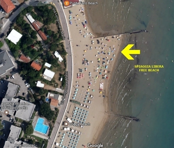 FREE BEACH (GRATIS USE) 20 MT. FROM THE RESIDENCE -  Agency  ATLANTIDE